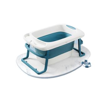 KUB/可优比 宝宝折叠浴桶大号新生儿童洗澡桶小孩婴儿洗澡浴盆超大坐躺
