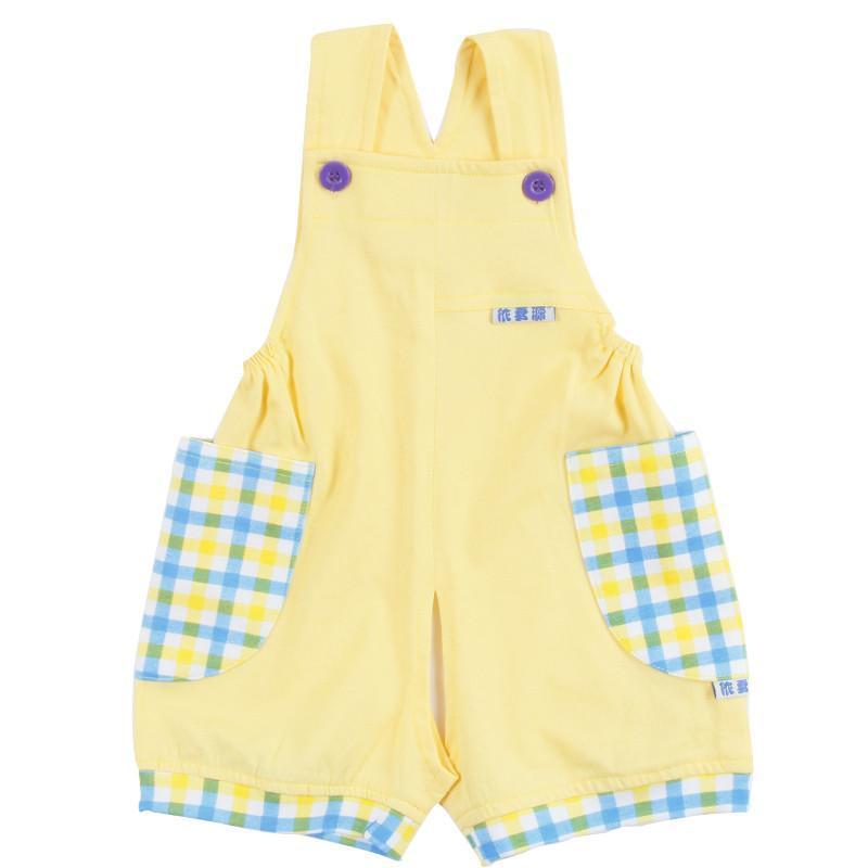 新款夏季儿童背带裤宝宝婴儿纯棉薄背带短裤开档短裤