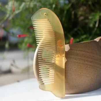 角缘正品 天然牛角梳  绵羊角梳子 小巧护发防脱 造型可爱包包梳