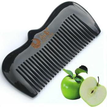 角缘新品 高端苹果梳 纯天然牛角梳 送健康牛角梳子 防脱发防静电