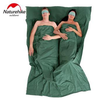NH成人双人睡袋户外四季便携 春秋旅游薄款宾馆隔脏棉花睡袋内胆