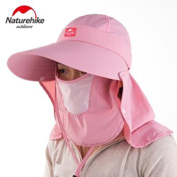 NH挪客 夏天遮阳帽子大沿360°防晒女骑车遮脸户外太阳沙滩帽