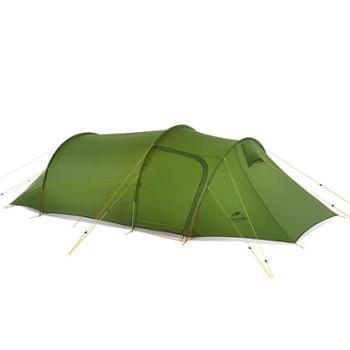 NH挪客巴洛斯超轻隧道帐篷 户外双人3人露营一室一厅四季帐篷