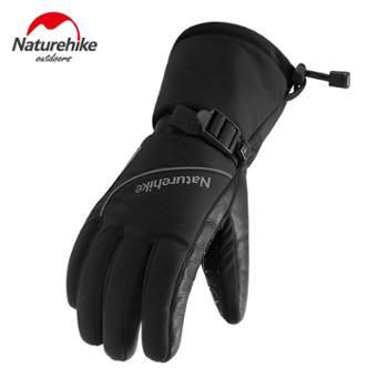 NH挪客抓绒手套保暖冬防风滑雪手套女2018男户外防水手套