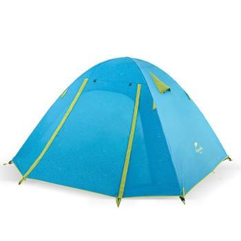 NH户外帐篷2人3人-4人铝杆帐篷 双层防风防雨野外露营帐篷套装