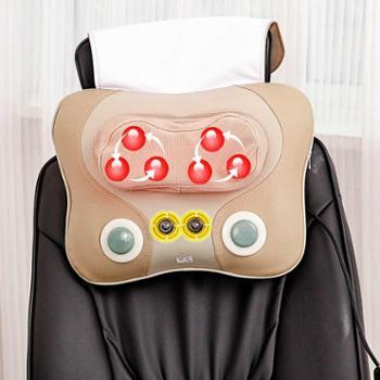 约克正品颈椎按摩器颈部腰部肩部背部多功能按摩枕家用全身靠垫YK-918H