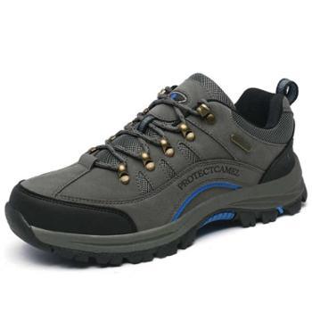 保罗 骆驼登山鞋男鞋防水防滑徒步鞋女秋季真皮户外鞋运动旅游鞋