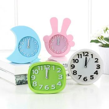#小闹钟学生床头简约创意石英座钟电子个性时钟工艺钟客厅摆件