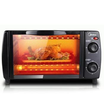 Midea美的烤箱T1-108B家用多功能迷你电烤箱蛋糕烘焙器烧烤箱10升烤箱