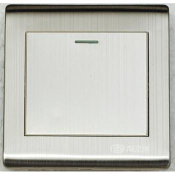 浏阳河电器一位单控开关86型A5系列拉丝款金属银