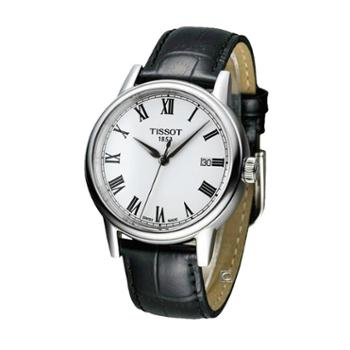 天梭手表TISSOT卡森石英男装手表T085.410.16.013.00皮带男表