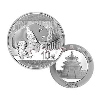 中国金币 2016熊猫银币30克(无外包装盒)