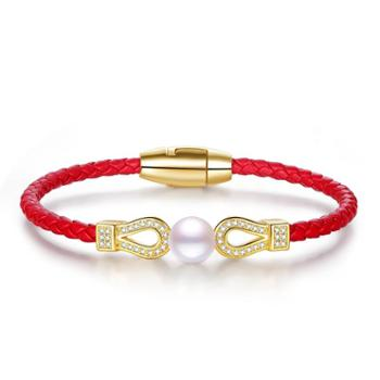 仙蒂瑞拉 优雅魅力 精致淡水珍珠手链手绳本命年礼物 附证书