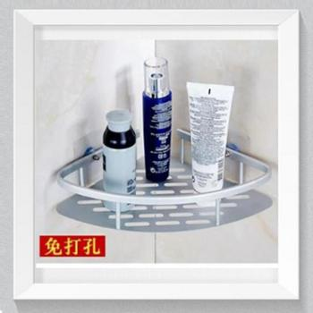 太空铝置物架无痕创意厨房卫生间卫浴收纳架卫生间浴室置物架三角置物架【善融七周年】