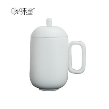晓味窑精品茶具泡茶杯乾杯磨砂白XW-QB