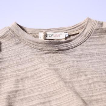 短袖t恤 男装日系圆领夏季上衣修身男士打底衫半袖潮男SLS-38388-35