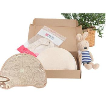 果小果大春夏有机棉宝宝枕头新生儿枕头婴幼儿定型枕防偏头记忆枕