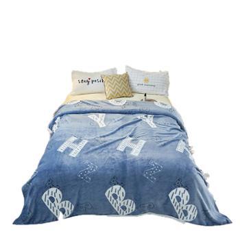 伊伊爱云貂绒珊瑚绒毯子空调毯午睡毯