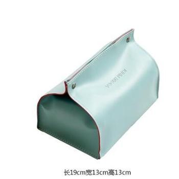 理想家北欧创意现代简约美式餐桌纸巾盒家用客厅家居装饰欧式收纳抽纸盒