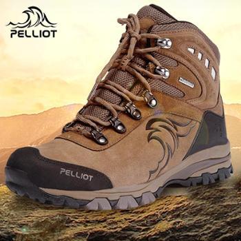 法国PELLIOT户外登山鞋 男女防滑耐磨户外鞋防水透气高帮徒步鞋12741924