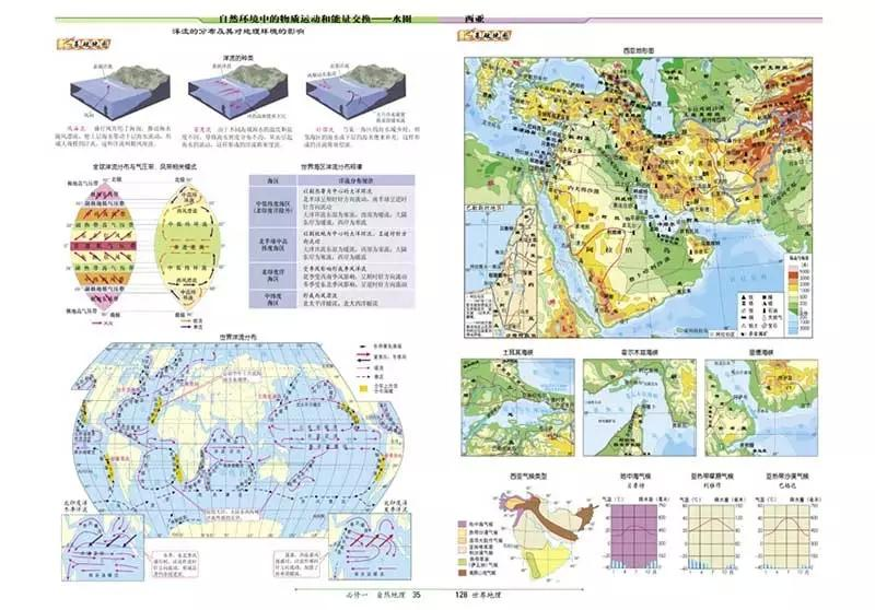 现货 北斗地图新课标中学地理图文详解指导地图册高中地理学习教辅书