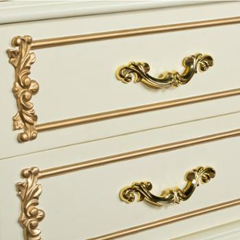 全实木衣柜欧式衣柜6门简约组合木质衣柜整体衣橱木头衣柜可定制