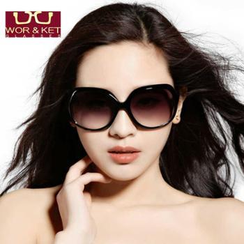 太阳镜 女士新款复古太阳眼镜 时尚大框防紫外线墨镜女潮可配近视