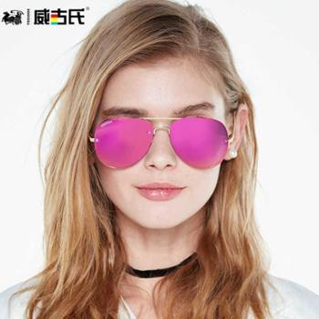 威古氏太阳镜女新款复古偏光大框驾驶墨镜潮女明星眼镜3135