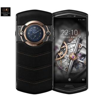 8848 钛金手机 M5巅峰版 智能商务加密轻奢手机 全面屏 双卡双待 全网通4G 8核256G内存 黑色小牛皮