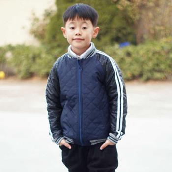 韩版秋冬新款男童外套 夹棉短款棒球服夹克上衣棉服大童休闲外套