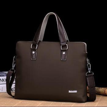 牛津纺手提包横款休闲商务男士公文包单肩包男包帆布斜跨包