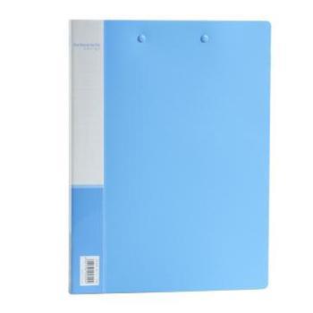 得力(deli)5309 A4长押夹加板夹文件夹 蓝色