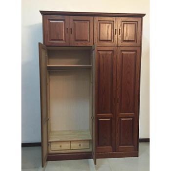 万森木业 红橡花纹开放漆衣柜