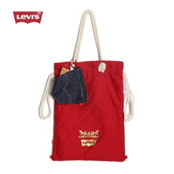 levi's李维斯金标限量款运动时尚休闲束口袋抽绳男女健身袋(送牛仔布钱包)