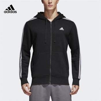 adidas/阿迪达斯加绒男外套ESS3SFZB三条纹运动针织外套B47368