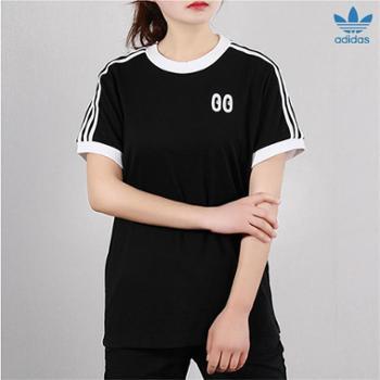 阿迪达斯三叶草女装 新款圆领半袖透气复古短袖T恤DV2664-S