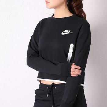 Nike耐克女装休闲长袖运动卫衣落肩圆领套头衫939930-011-838