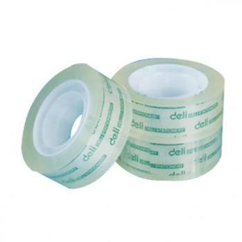得力30000胶带文具胶带优质透明胶带8mm*1卷