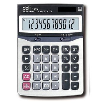 deli得力1510A大屏幕办公便携12位通用计算器1个