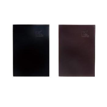 Deli/得力 得力3191 25K高档皮面会议记录本 1本(黑色)