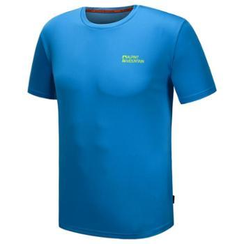 埃尔蒙特ALPINTMOUNTAIN户外男女款透气运动圆领短袖快干T恤健身跑步户外服