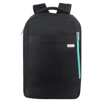 埃尔蒙特双肩电脑包旅行男士女包防水轻便休闲商务电脑包旅行黑色
