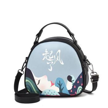 夏季上新小包包韩版印花手提小包时尚小圆包仙女包
