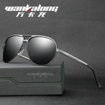 男士铝镁合金偏光太阳镜款蛤蟆款潮人墨镜骑行驾驶眼镜