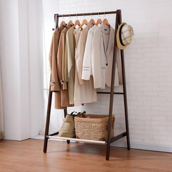 (生活用品衣帽架衣柜)家逸创意衣帽架落地实木挂衣架卧室欧式衣架落地卧室木质衣服架