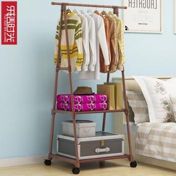 (生活用品简易衣帽架)简易衣帽架可移动挂衣架家用卧室衣架落地挂衣架创意衣服架多功能