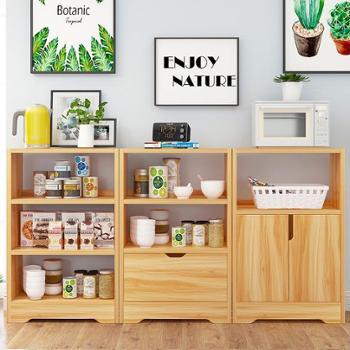 (生活用品创意家用置物架)餐边柜厨房碗柜简易家用置物架储物柜简易餐边柜多功能橱柜