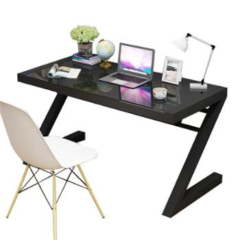 钢化玻璃电脑桌办公桌书桌学习桌电竞桌笔记本Z型电脑桌