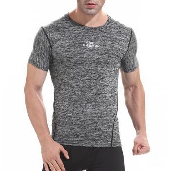 夏季户外速干t恤衣短袖男足球服篮球运动衫紧身衣健身衣背心