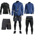 运动健身套装男秋冬户外速干透气马拉松跑步服欧美休闲运动套装